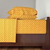 Roostery Retro 4pc Sheet Set Solar Lattice by Robyriker Queen Sheet Set made with