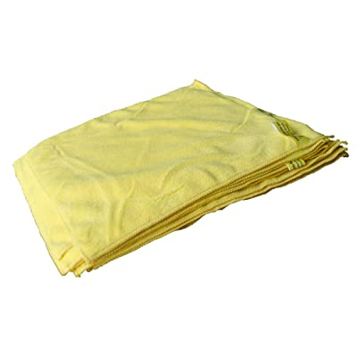"Towels by Doctor Joe - Ultra-80 Yellow Heavy Weight 16"" x 27"" Microfiber Towel - 12 Pack: Automotive"