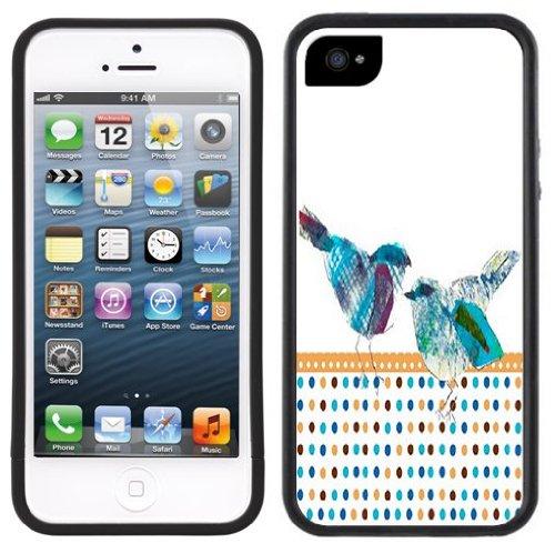 Moderne Bluebirds | Handgefertigt | iPhone 5 5s | Schwarze Hülle