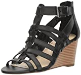 #10: Jessica Simpson Women's Cloe Wedge Sandal, Burnt Umber, 5.5 Medium US