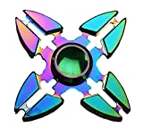 EB-LINK Colorful Spinner Fidget Spinner Toys Metal Material EDC Hand Finger Spinner for High Speed Relieving Stress ADHD, OCD, Anxiety, Rainbow