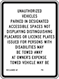 Accuform Signs FRA189RA Engineer Grade Reflective Aluminum Handicap Parking Sign, For California, Legend