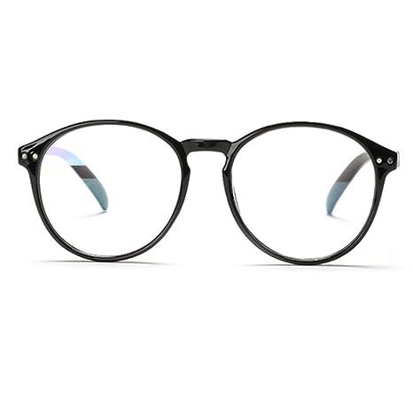 YUNCAT Classique rétro Ronde Cadre  Transparent lentille  Mode Lunettes  unisexepour Homme et Femme 3eb47c093d3d