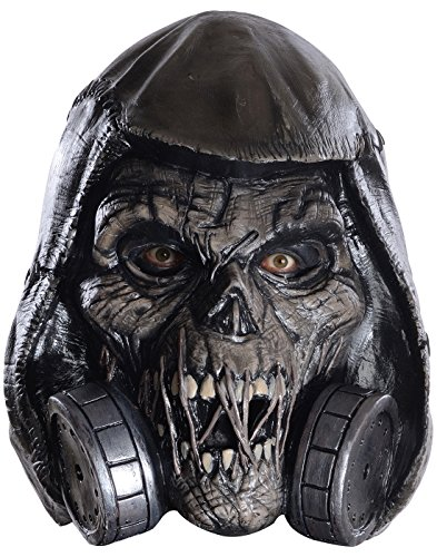 Rubie's Men's Arkham Knight Scarecrow Deluxe Latex Mask, Black, One ()