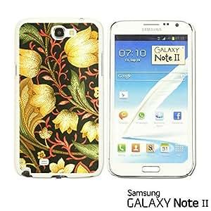 OnlineBestDigital? - Flower Pattern Hardback Case for Samsung Galaxy Note 2 - Gold Flower Patter