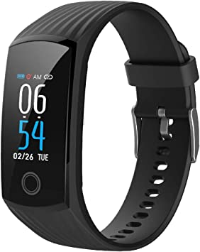 2019 Color Screen H6 Smartwatch for Men & Women Waterproof Sports Watch Smart Wristband with Heart Rate Blood Pressure Monitor Fitness Activity ...
