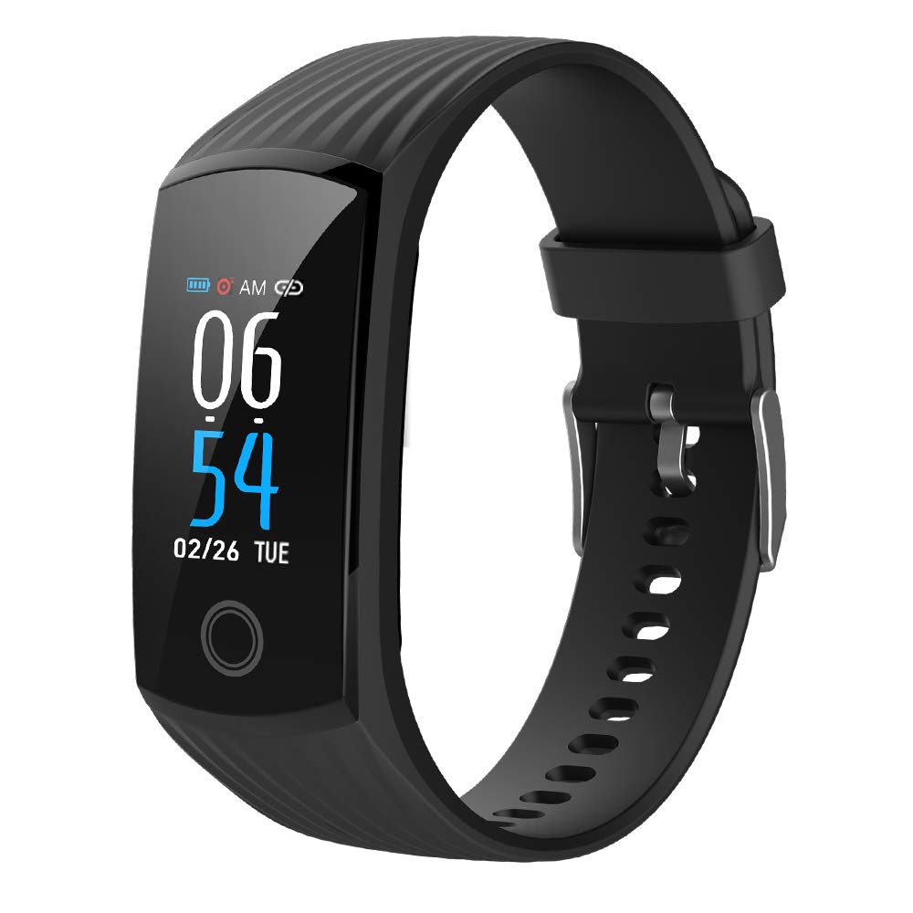 2019 Color Screen H6 Smartwatch for Men & Women Waterproof Sports Watch Smart Wristband with Heart Rate Blood Pressure Monitor Fitness Activity Tracker for Running Compatible for Android & iOS (Black) by DSMART
