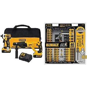 "DEWALT DCK233P2 20V MAX XR Brushless 1"" SDS PLUS Rotary Hammer and Impact Driver Kit..."