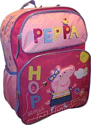 (Peppa Pig Girls 16' School Book Backpack Bag - Hop)