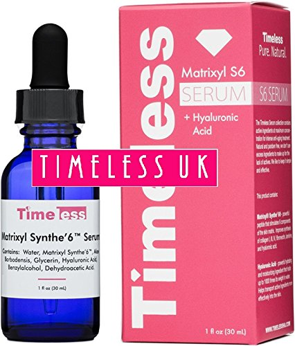 Timeless Skin Care Matrixyl Synthe'6 Serum - 1oz / 30ml - Authorised UK Seller - Fresh stock, Brand new and Sealed Timeless Skin Care USA MS6-1