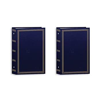 Pioneer 3 Ring Photo Albums 4 X 6 Pocket For 504 Photos (Navy Blue) (2 Pack) by Pioneer Photo Albums