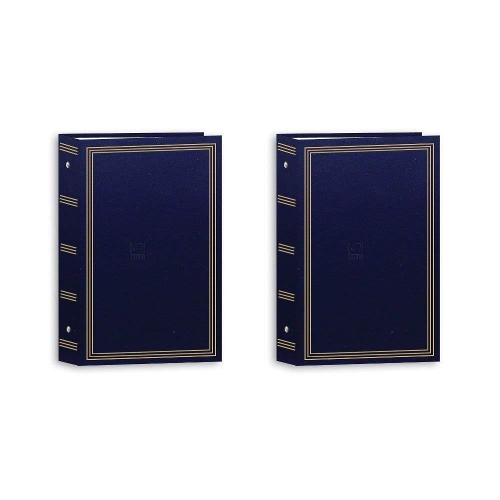 Pioneer 3-Ring Photo Albums 4 x 6 Pocket for 504 Photos (Navy Blue) (2 Pack) by Pioneer Photo Albums (Image #1)