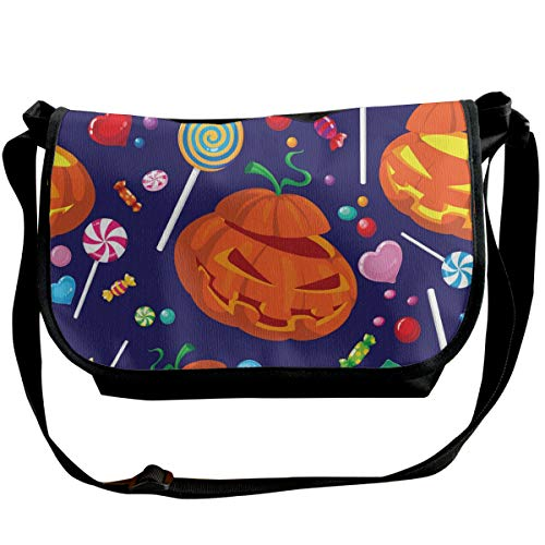 Taslilye Seamless Halloween Candy Vector Image Love Personalized Wide Crossbody Shoulder Bag For Men And Women For Daily Work Or Travel -