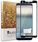 Google Pixel 2 XL Screen Protector, Acessorz Ultra Clear [Full Cover][Bubble Free] Tempered Glass Screen Protector Film for Google Pixel 2 XL (2017) - Lifetime Replacement Warranty (Black)