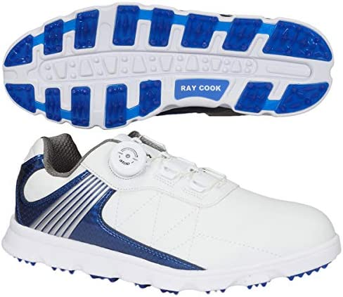 Raycookゴルフシューズ ダイヤルatop式メンズゴルフシューズ メンズ RCGS1800 ホワイト 26.0 サイズ:24.5~27.0㎝(0.5㎝刻み) 甲材:人工皮革