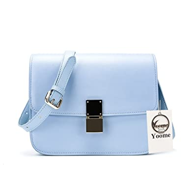 c208242b1352 Image Unavailable. Image not available for. Color  Yoome Women Fashion  Shoulder Bag Jelly Clutch Handbag Genuine Leahter Crossbody Bag