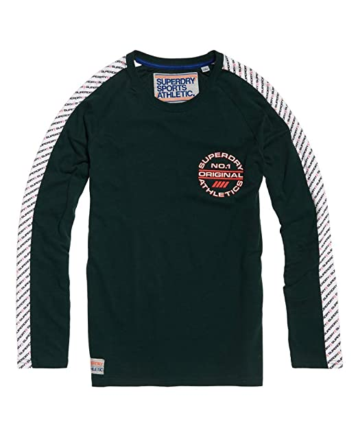Superdry Track /& Field Long Sleeve Raglan T-Shirt
