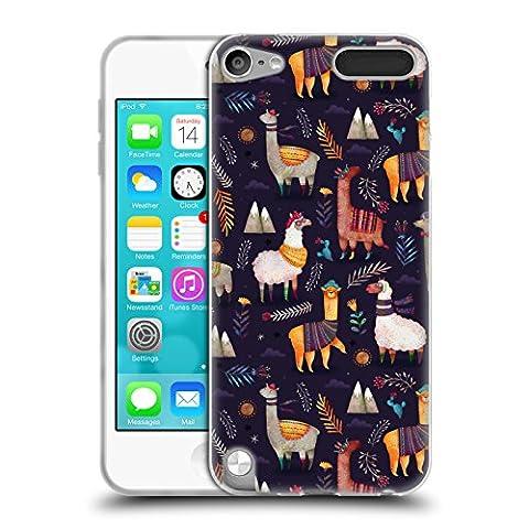 Official Oilikki Llamas Animal Patterns Soft Gel Case for Apple iPod Touch 5G 5th Gen (Ipod 5 Llama Case)