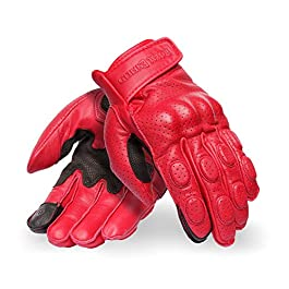 Royal Enfield Burnish Gloves Red (XL)23CM (RRGGLM000079)
