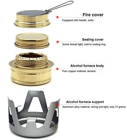 Noblik Portable Spirit Burner Alcohol Stove For Outdoor Hiking Camping