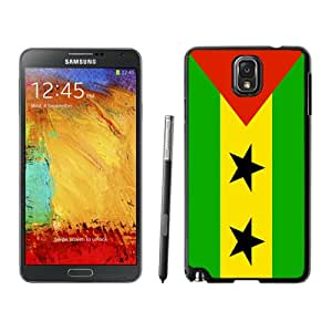 Beautiful Unique Designed Cover Case For Samsung Galaxy Note 3 N900A N900V N900P N900T With Sao Tome And Principe Flag Black Phone Case