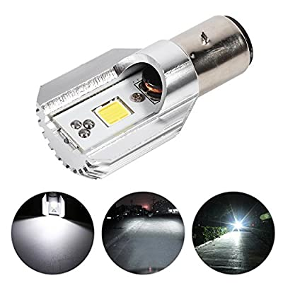 Motorcycle LED Near Light Signal Lamp Bulb Headlight Lamp BA20D