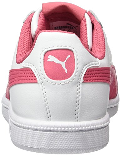 Puma Smash Fun L Jr - Tobillo bajo Unisex Niños Blanco (White-rapture Rose)