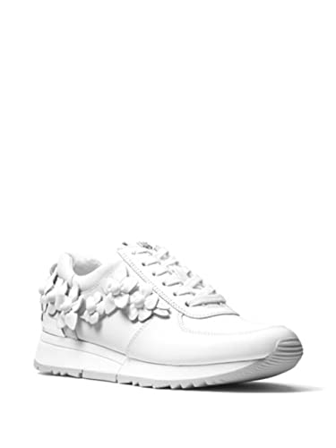 bc0e9383aaeb Michael Michael Kors Allie Floral Trainer Leather Sneakers (10) White