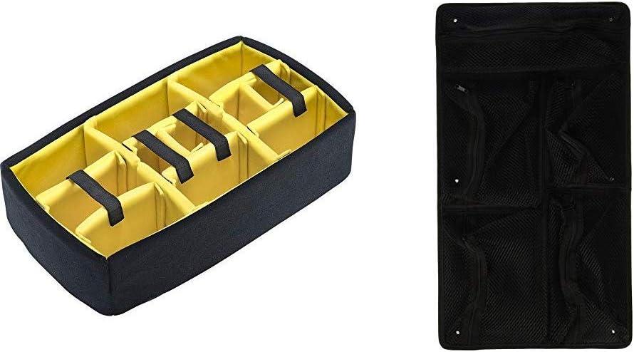 Pelican 1510 Padded Divider Set &1510 Case Lid Organizer (Black)