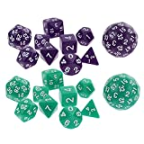 Dolity Set/20pcs Multi Sided Dice Dungeons and Dragon RPG Party Table Board Game