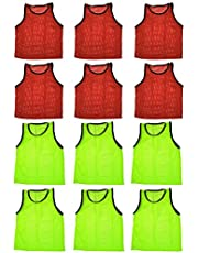 Blue Dot Trading Adult Sports Pinnies 12 Scrimmage Training Vests