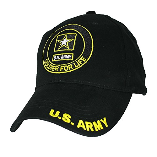 Eagle Crest U.S. Army Soldier For Life Baseball Cap. - Pin Hat Crest