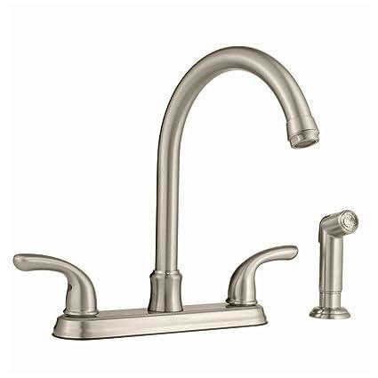 Attirant Glacier Bay 2 Handle Side Sprayer Kitchen Faucet In Brushed Nickel