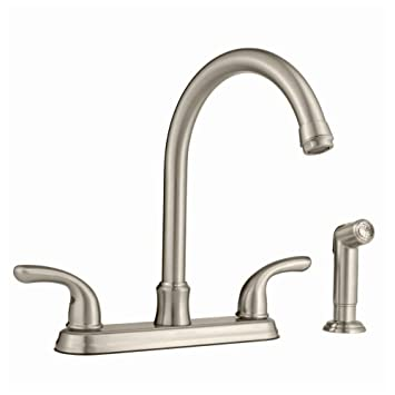 Glacier Bay 2-handle Side Sprayer Kitchen Faucet in Brushed Nickel ...