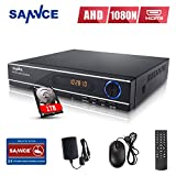 SANNCE HDMI 8CH 1080N/ 720P DVR W/ 1TB Hard Drive Disk for CCTV Home Security Surveillance Cameras System Weatherproof Body (P2P, QR Code Scan Smartphone Remote Viewing(Certified Refurbished)