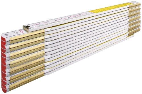 Stabila 617/11 Maßstab, 3 m, 15-Glieder, weiß/gelb
