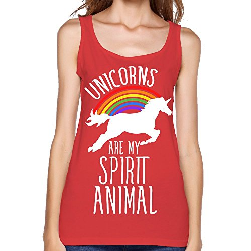Women's Unicorns are My Spirit Animal Fashion Sleeveless Vest Novelty Tank Tops Graphic Tee -