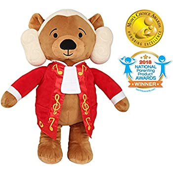 Vosego Amadeus Mozart Virtuoso Bear | 40 mins Classical Music for Babies | 15″ Award Winning Musical Soft Toy | Educational Toy | Perfect Gift for Infants Kids Adults