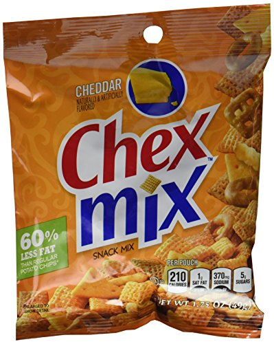 Chex Cheddar Flavor Snack Mix, 1.75-Ounce Single Serve Bags (Pack of 60)