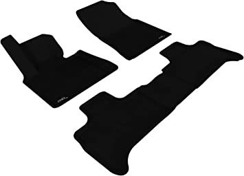 Black Kagu Rubber 3D MAXpider Front Row Custom Fit All-Weather Floor Mat for Select BMW 3 Series Models