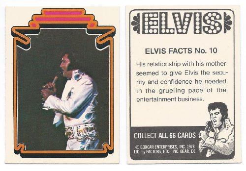 1978 Trading Card - 1978 Elvis Presley Collectible Trading Card #10