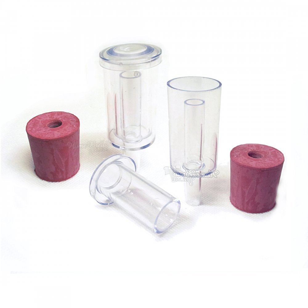 2 Pack Handy Airlock (Silent) With Bung Home Brew Online