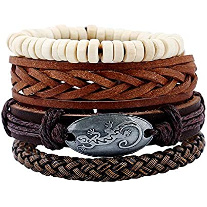 ZUOZUO Leather Wristband Simple Retro Suit Woven Leather Bracelet Men S Leather Rope Punk Bracelet Estimated Price £17.99 -