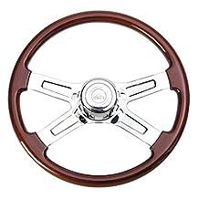 "Peterbilt 1993 - July 1998 / Semi Truck 18"" Four Spoke Chrome Steering Wheel"