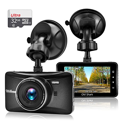 "5 - OldShark 3"" 1080P Dash Cam with 32GB Card"