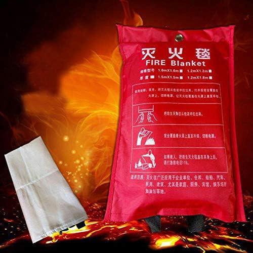 TTZY 1.5MX1.5M Glasfaser Home Fire Blanket Notfall Überleben Fire Escape ZeltSicherheit Feuerlöscher Zelt DFT001