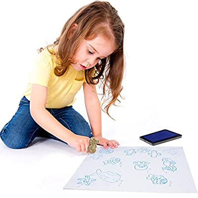 Professor Poplar's Puzzle Stampers Puzzle Boards with Inkpad by Imagination Generation (Marine Life): Toys & Games