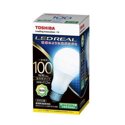 東芝 【ケース販売特価 10個セット】 LED電球 一般電球形 一般電球100W形相当 昼白色 口金E26 《LED REAL》 全方向タイプ 密閉形器具対応 LDA11N-G/100W_set B01926EFC6