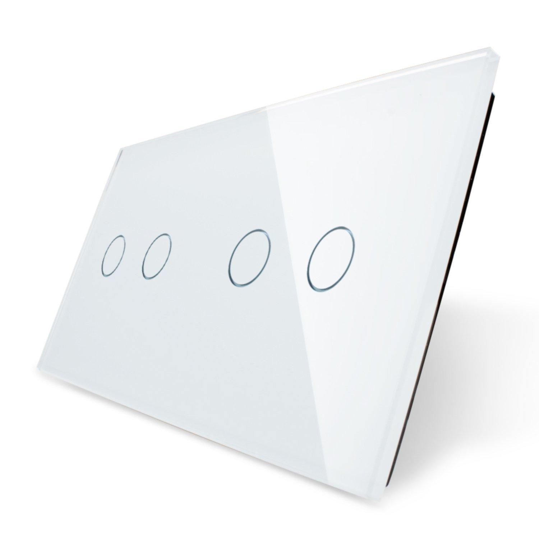 Touchpanel für zwei doppelte Lichtschalter von Garnitura®, weiß ...