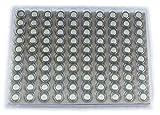 LR41 1.5V Button Cell Battery 100 pack (Replaces: LR41, SR41W, SR736, SB-B1, 280-13, K, V392, D392, 247D, S736E, AG3, AG-3, GP392, LR736, 392, 192, L736, G3, V3GA, SG3, ASG3, G3A, V36A, 92A, GP192, 392X, SR41, TR41SW, SR41SW, 247B, SP392, S736S, 392A, 392X, L736H, L736S, SR736PW, RW47, RW47S, GP392-A1, SR41, E392, LR41H, AG03)